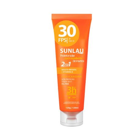 Sunlau Protetor Solar Fps30 E Repelente 120g Sunlau