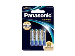 Pilha Alcalina Premium (AAA) 4 Unds Panasonic