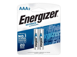 Pilha Ultimate Lithium (AAA) 2un Energizer